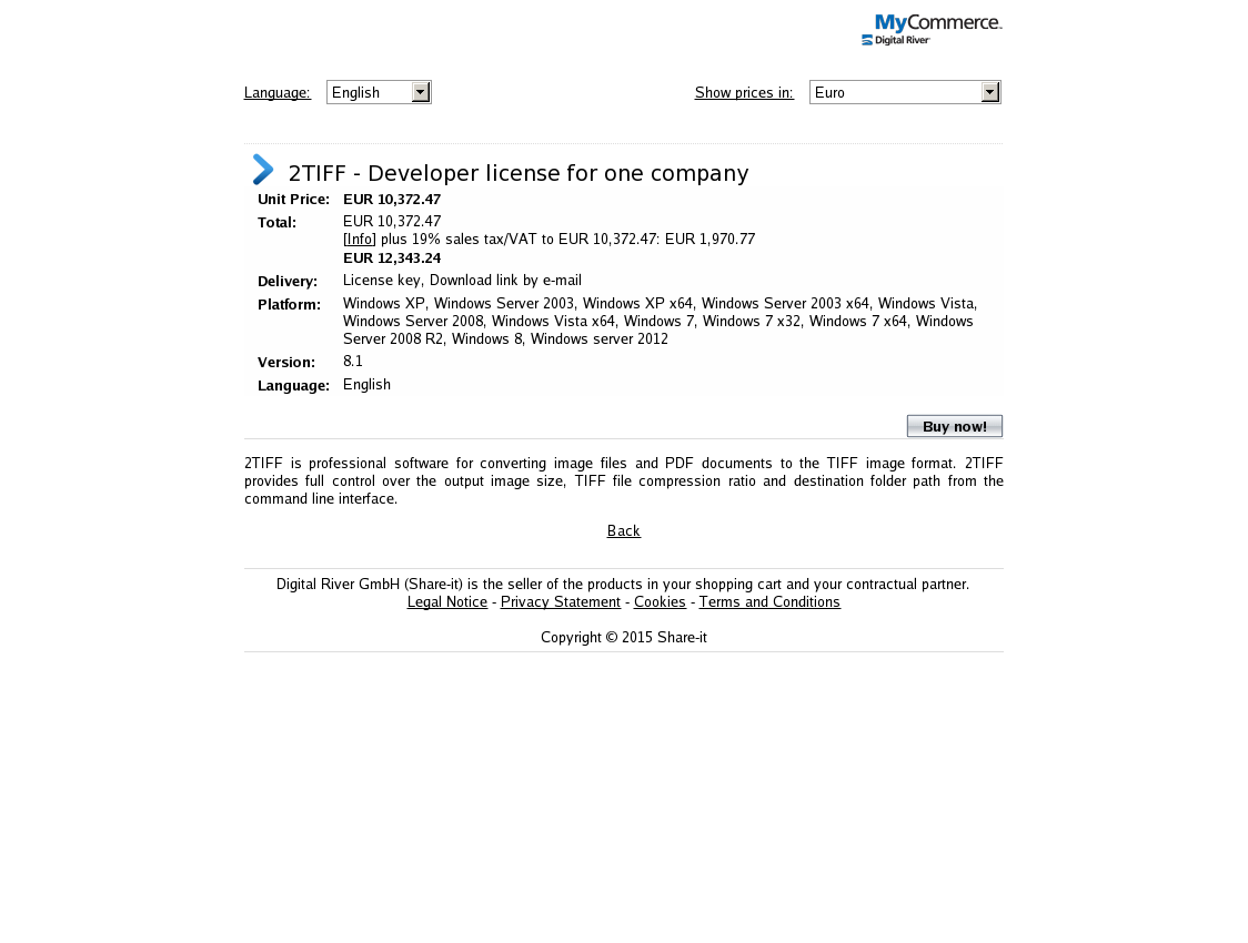 2TIFF - Developer license for one company