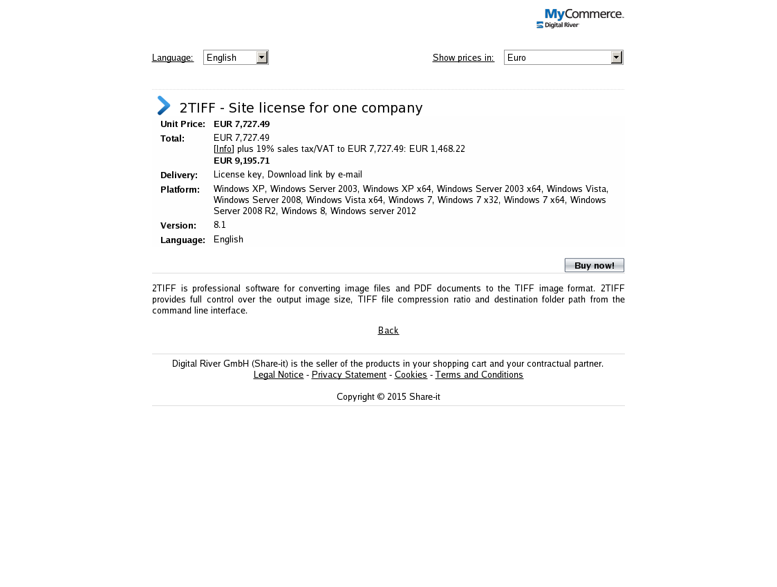 2TIFF - Site license for one company