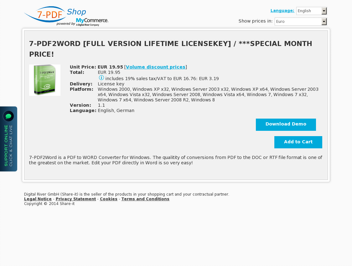 7-PDF2WORD [FULL VERSION LIFETIME LICENSEKEY] / ***SPECIAL MONTH PRICE!