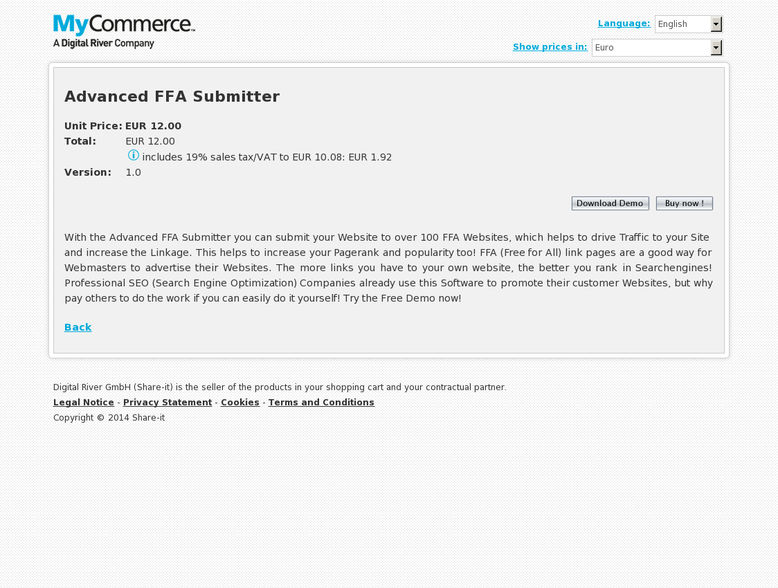 Advanced FFA Submitter