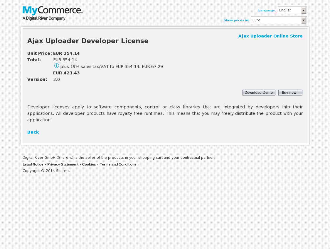 Ajax Uploader Developer License