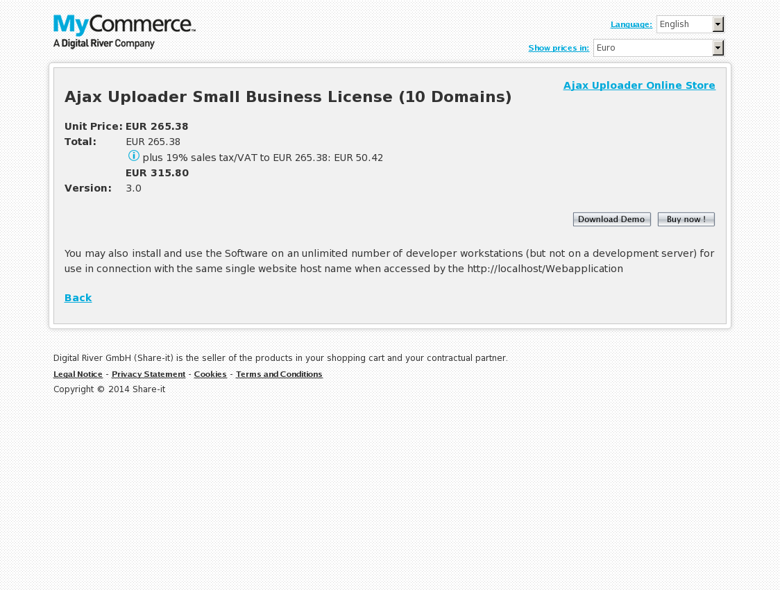 Ajax Uploader Small Business License (10 Domains)