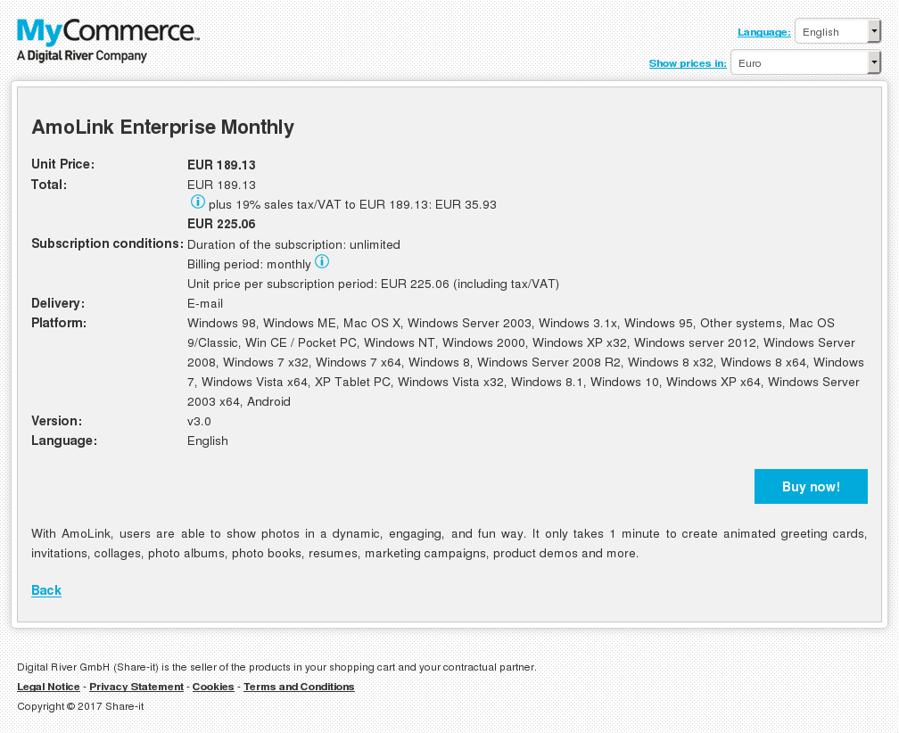 AmoLink Enterprise Monthly