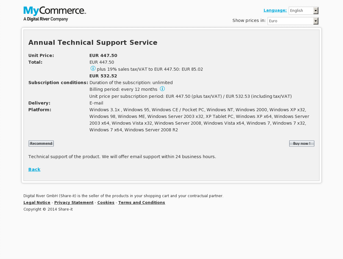 Annual Technical Support Service