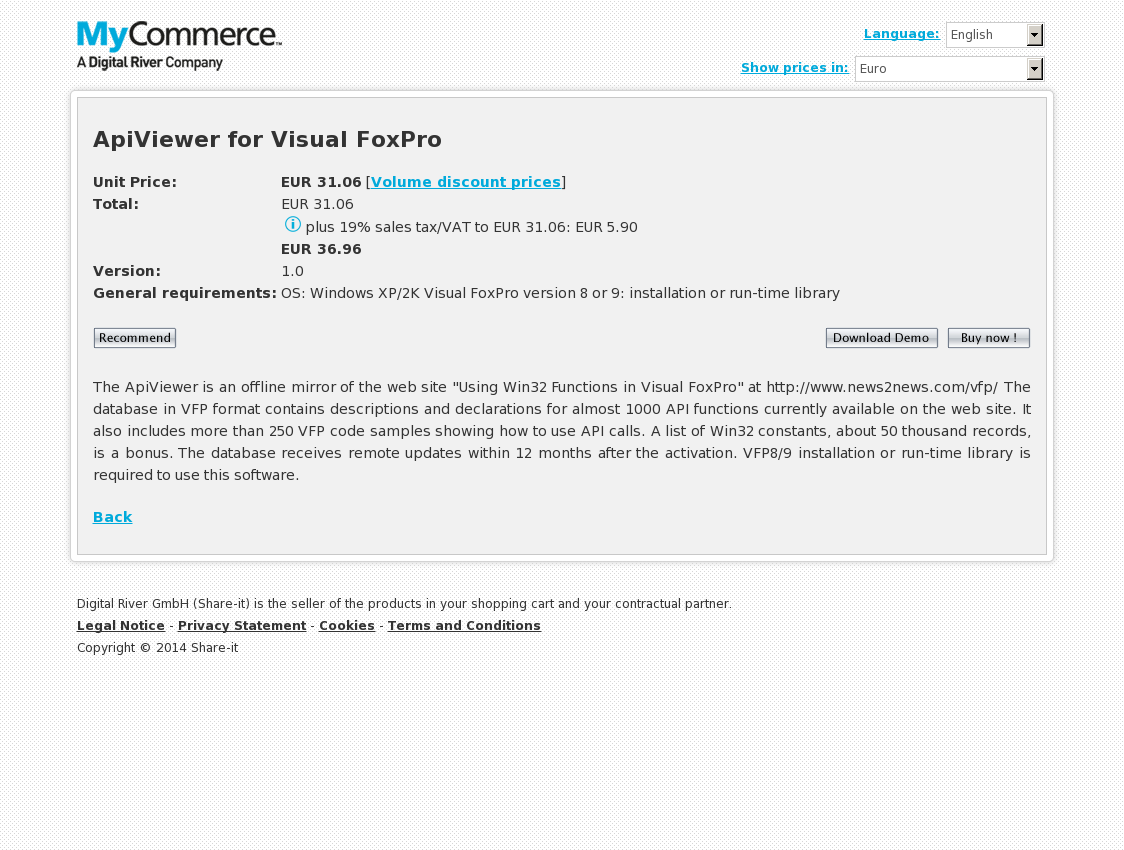 ApiViewer for Visual FoxPro