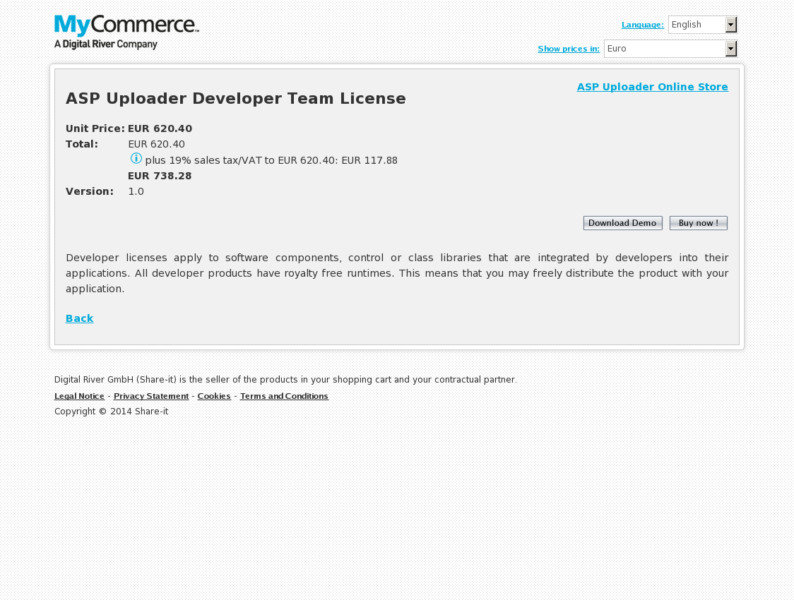 ASP Uploader Developer Team License