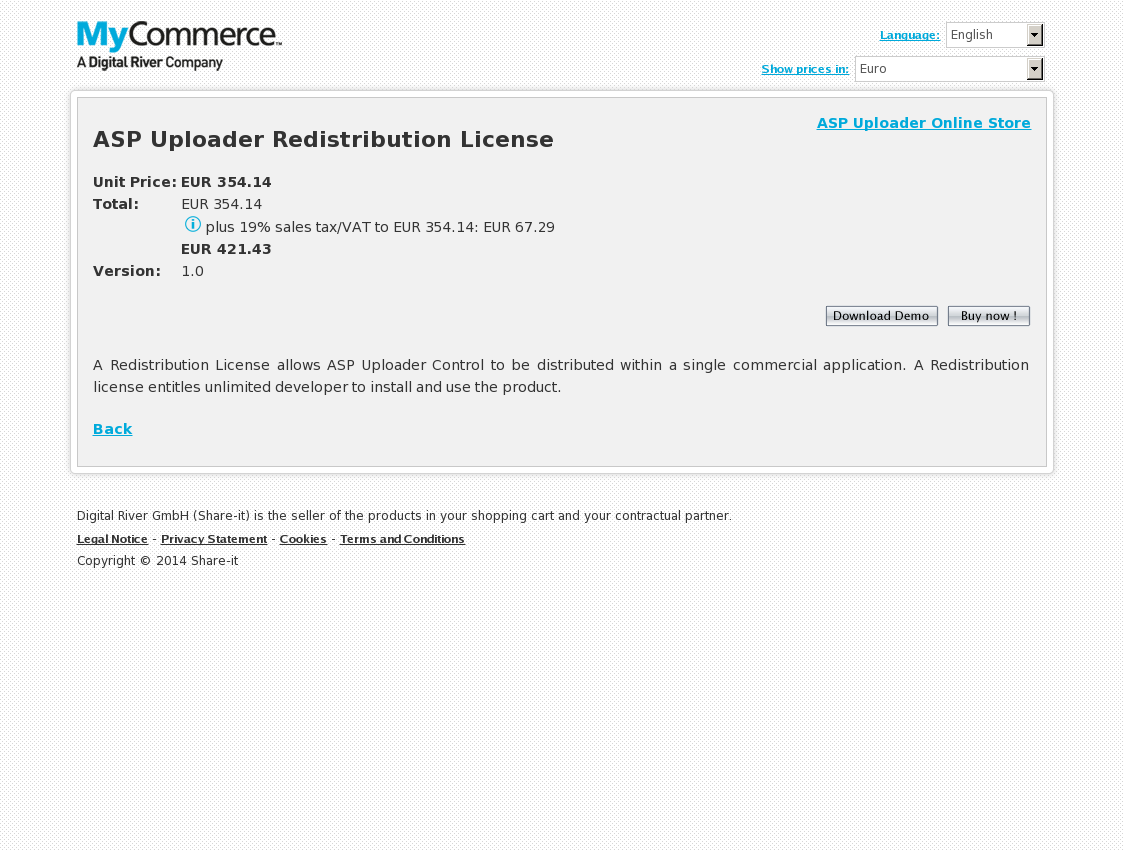 ASP Uploader Redistribution License