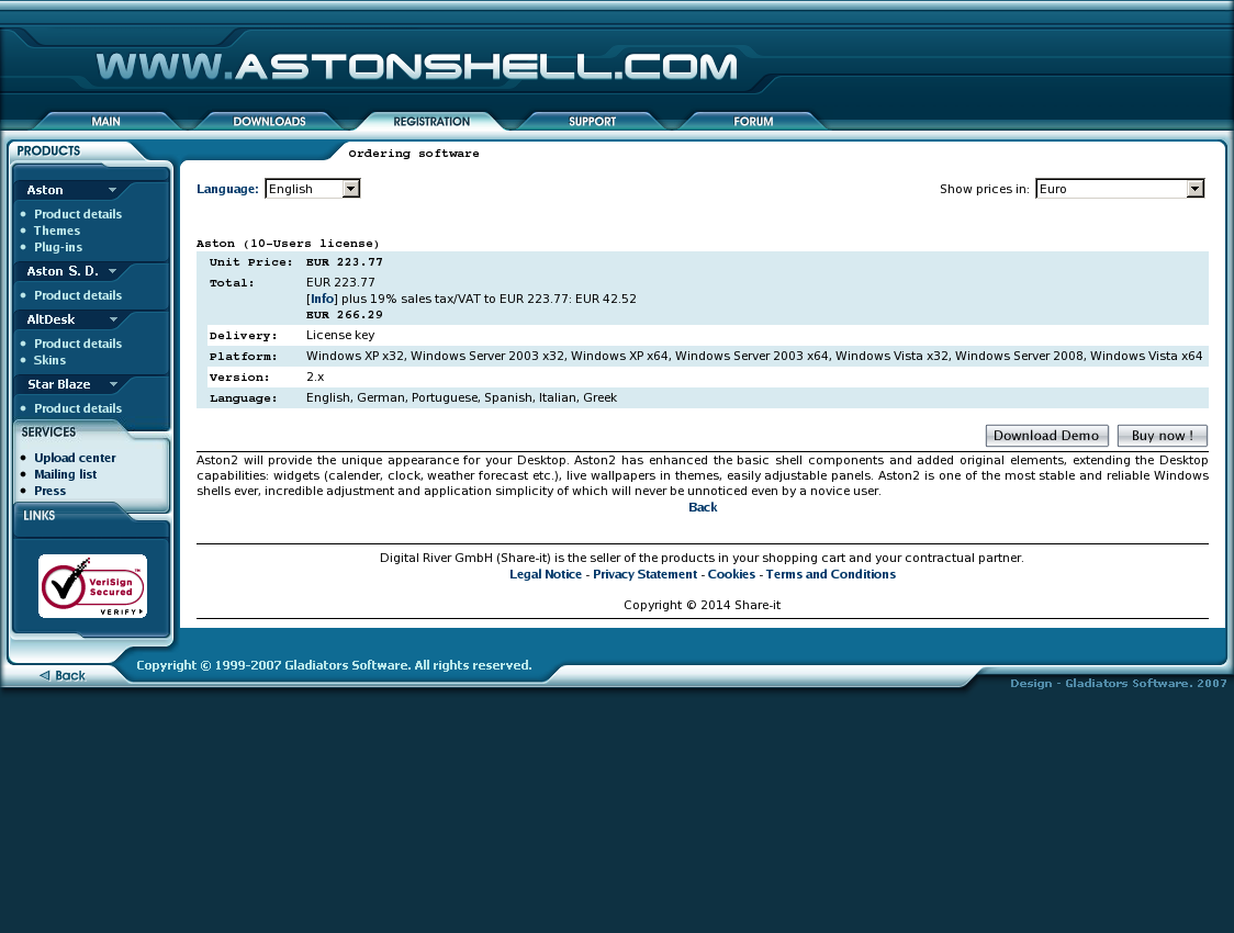 Aston (10-Users license)