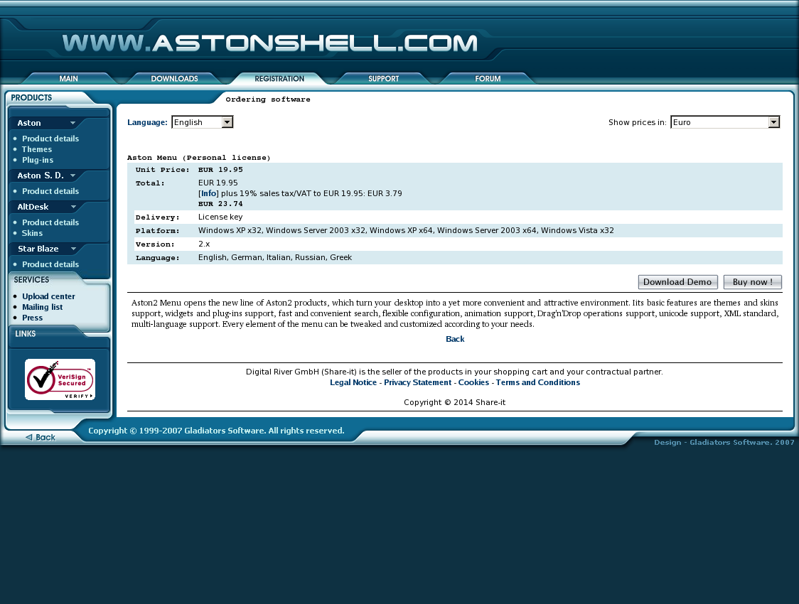 Aston Menu (Personal license)