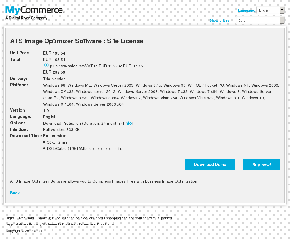 ATS Image Optimizer Software : Site License