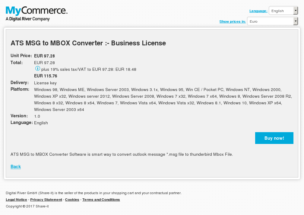ATS MSG to MBOX Converter :- Business License