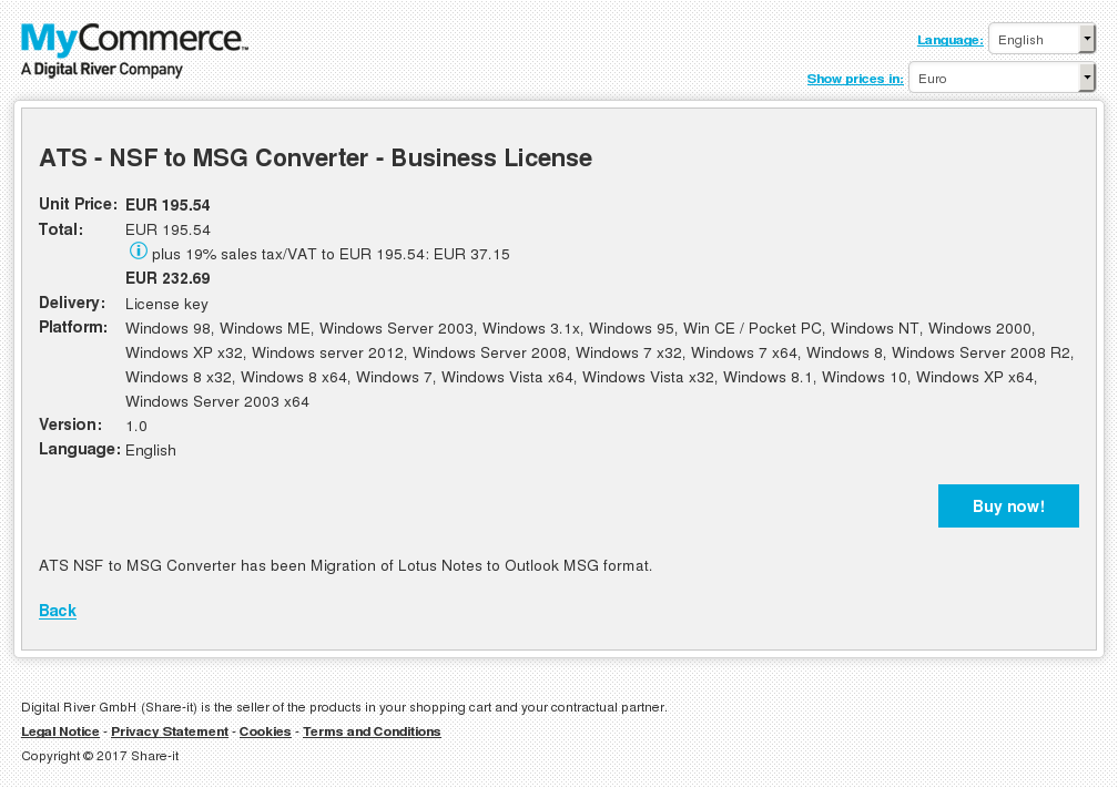 ATS - NSF to MSG Converter - Business License