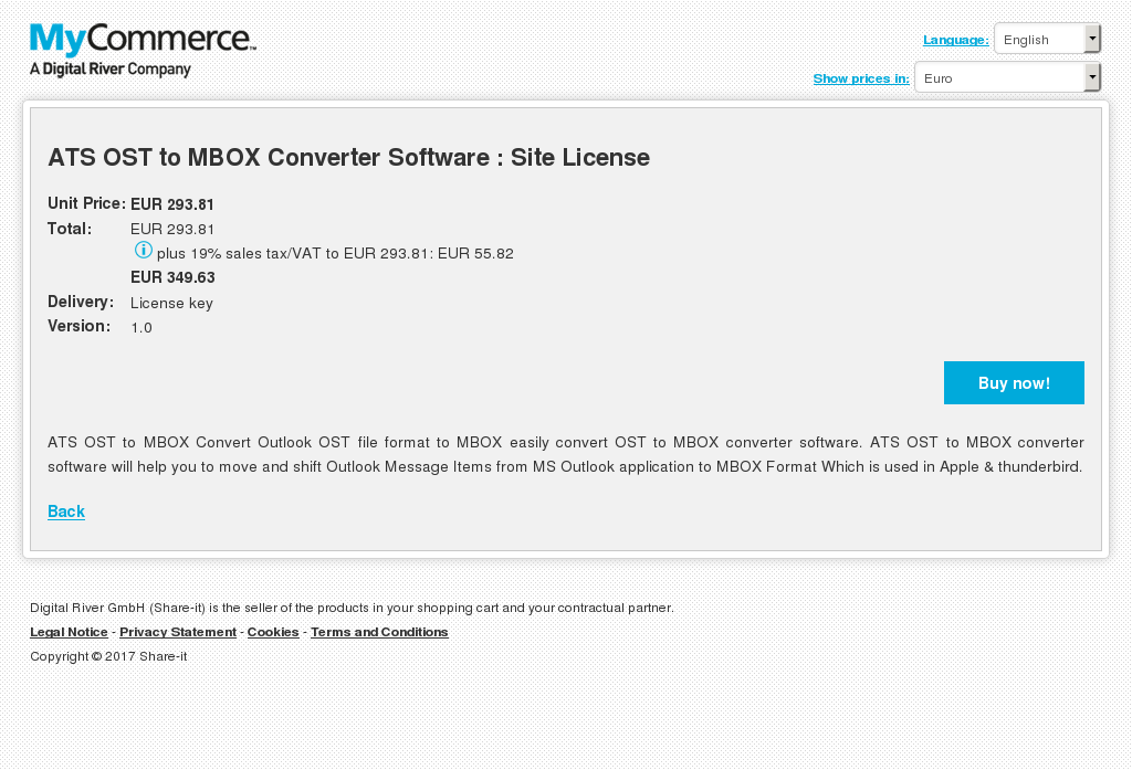 ATS OST to MBOX Converter Software : Site License