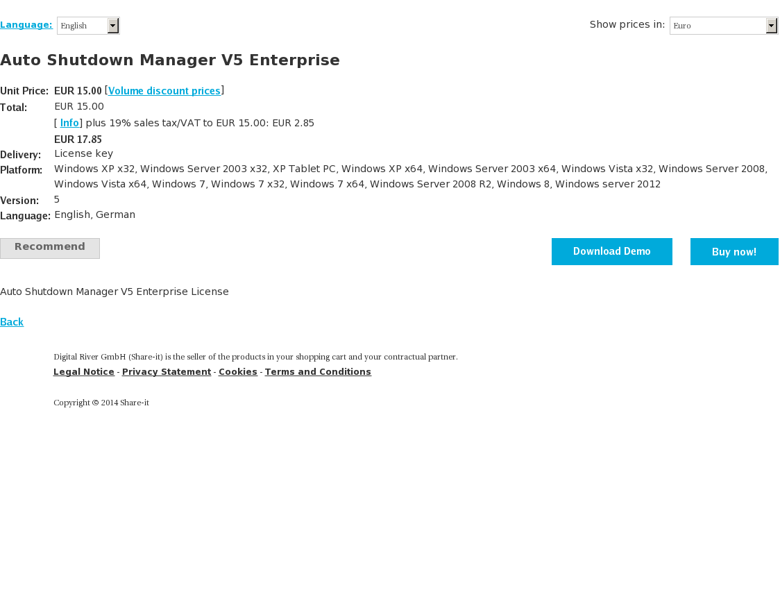 Auto Shutdown Manager V5 Enterprise