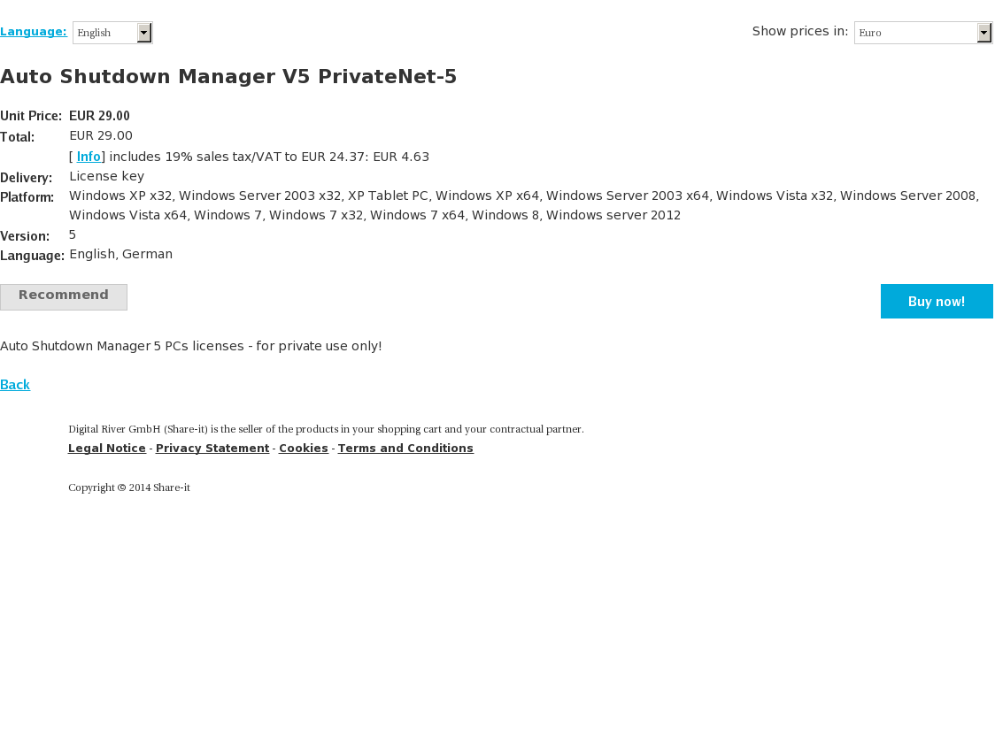 Auto Shutdown Manager V5 PrivateNet-5