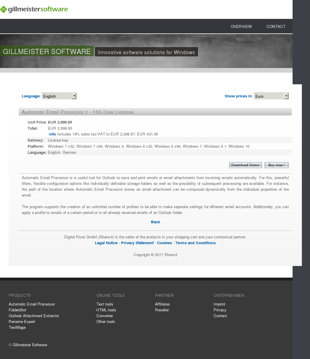 Automatic Email Processor 1 - 100-User License