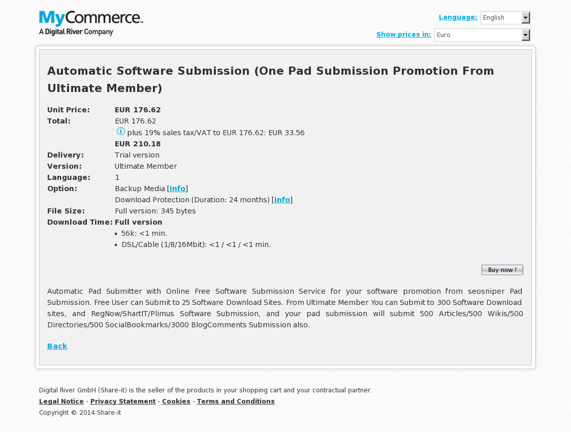 Automatic Software Submission (One Pad Submission Promotion From Ultimate Member)