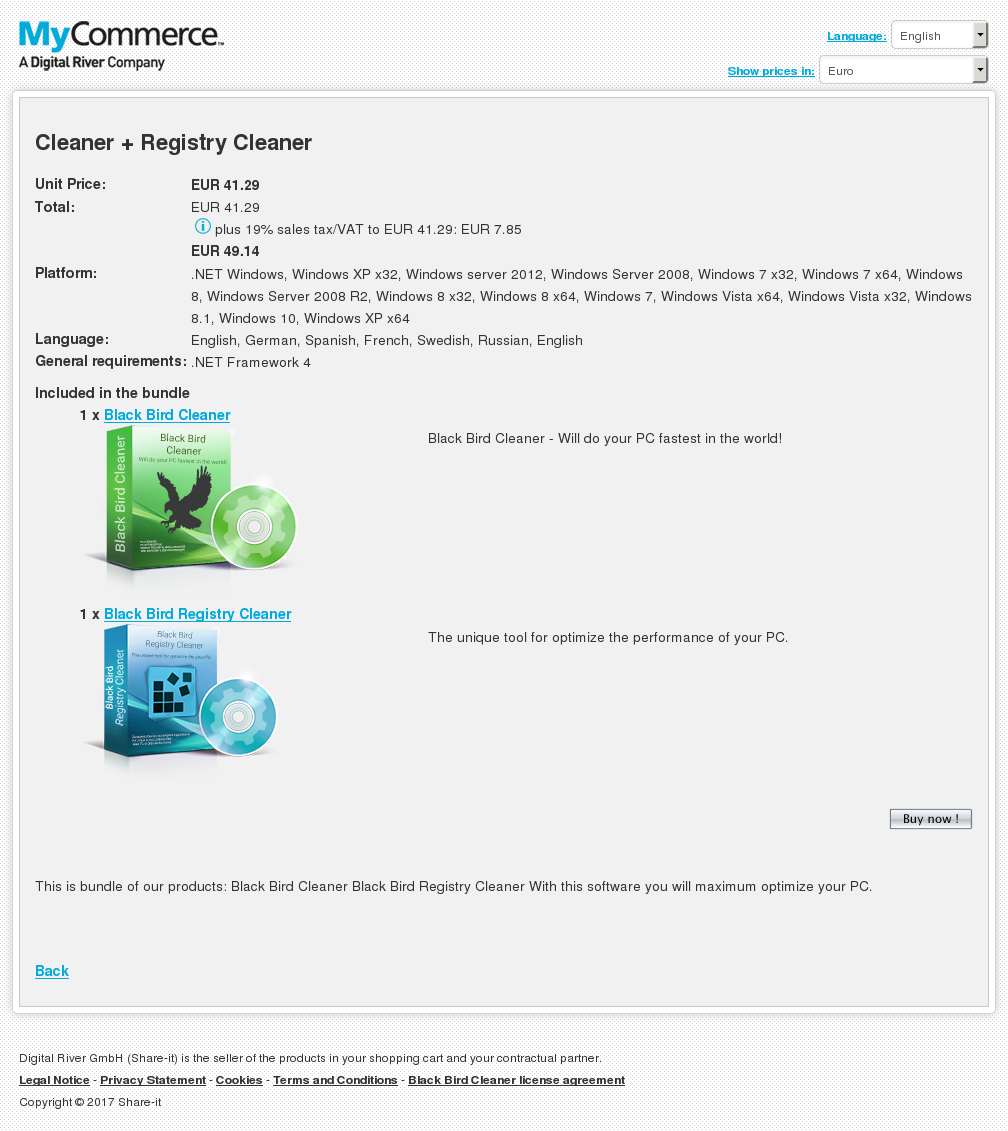 Cleaner + Registry Cleaner