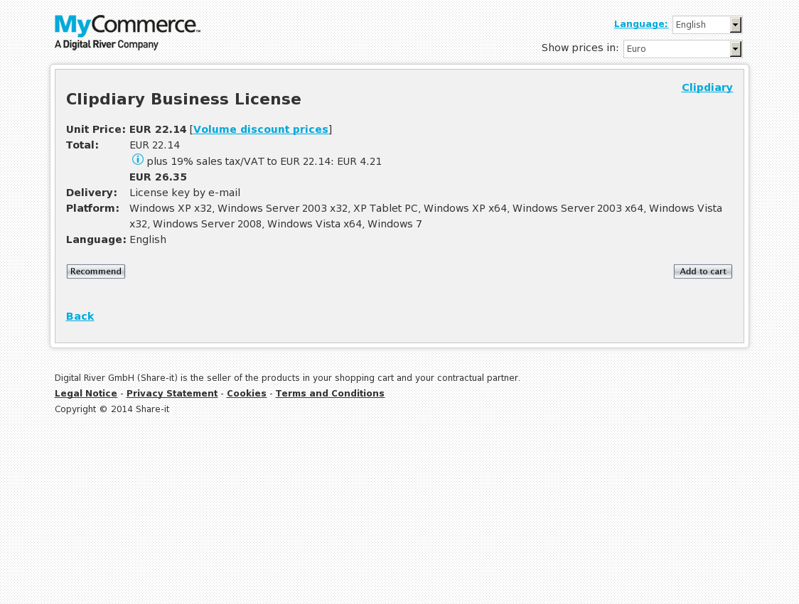Clipdiary Business License