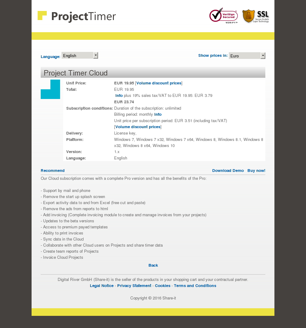 Copy of Project Timer Cloud