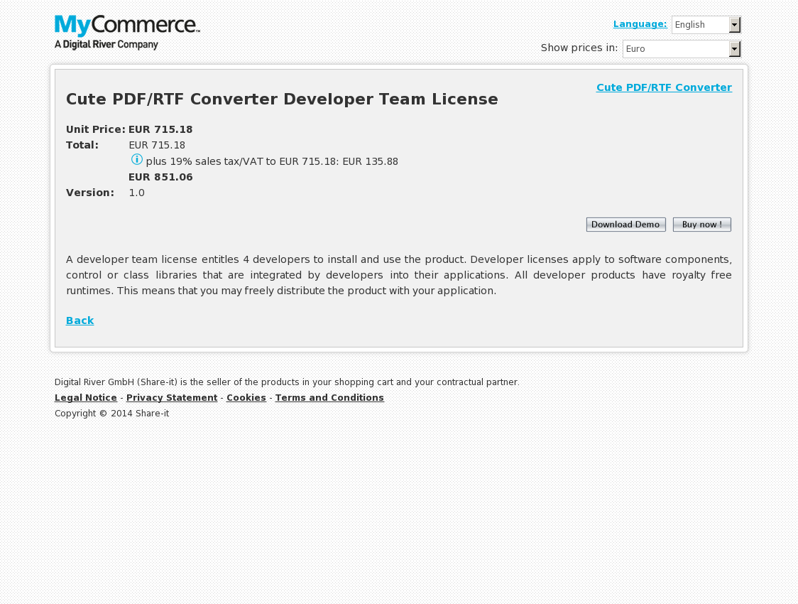 Cute PDF/RTF Converter Developer Team License