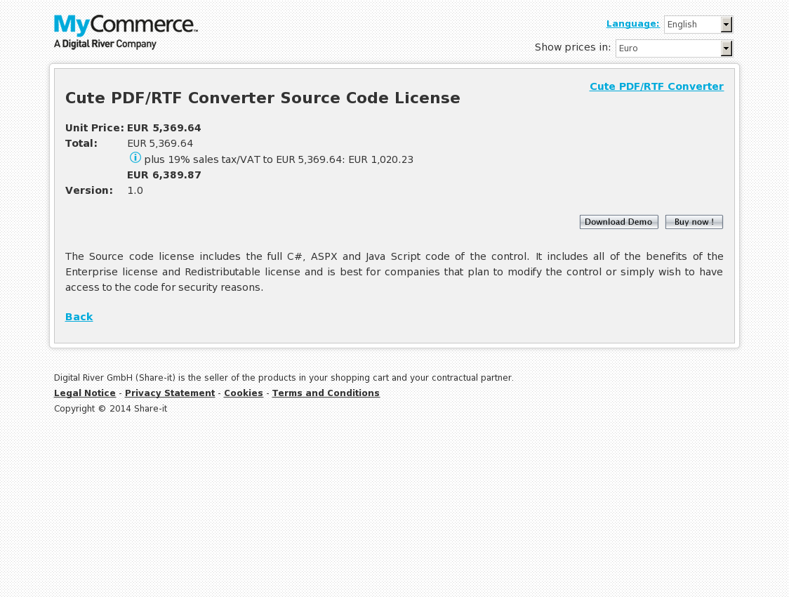 Cute PDF/RTF Converter Source Code License