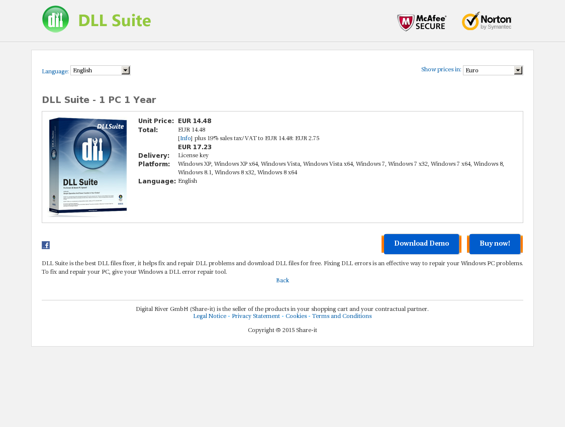 DLL Suite - 1 PC 1 Year