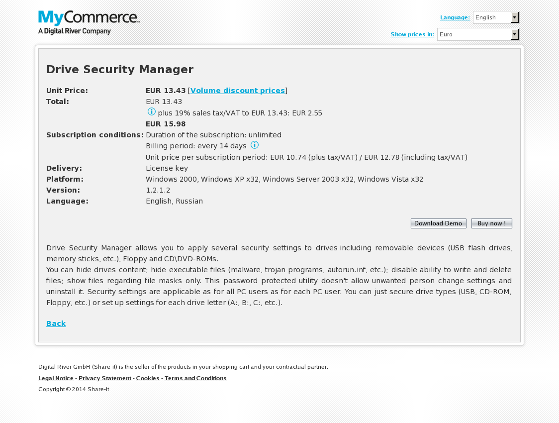 Drive Security Manager