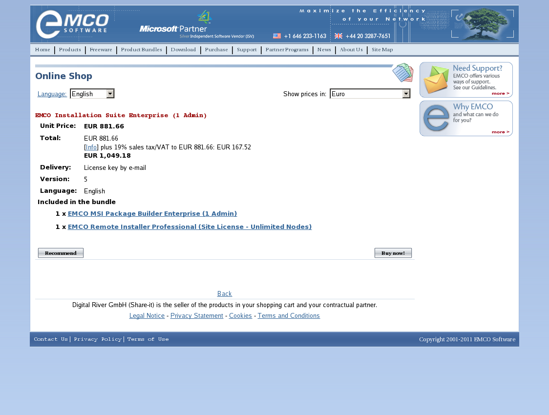 EMCO Installation Suite Enterprise (1 Admin)