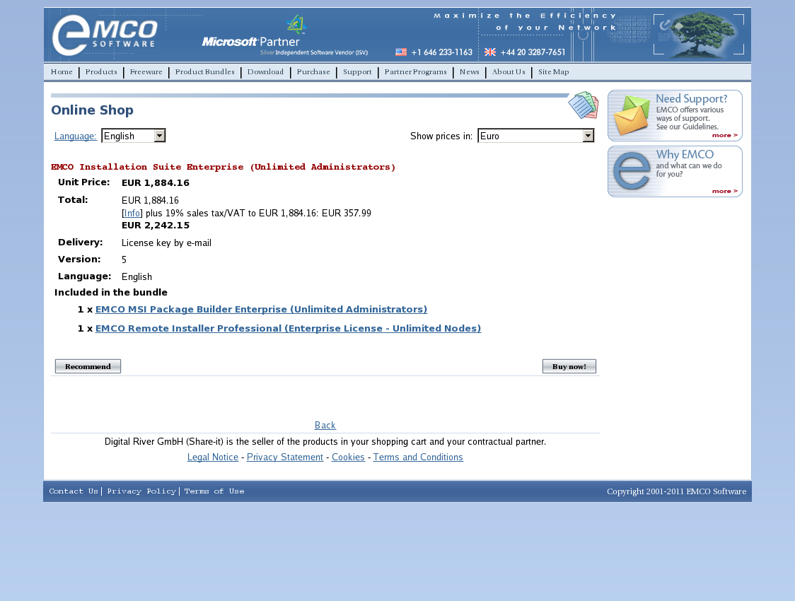 EMCO Installation Suite Enterprise (Unlimited Administrators)
