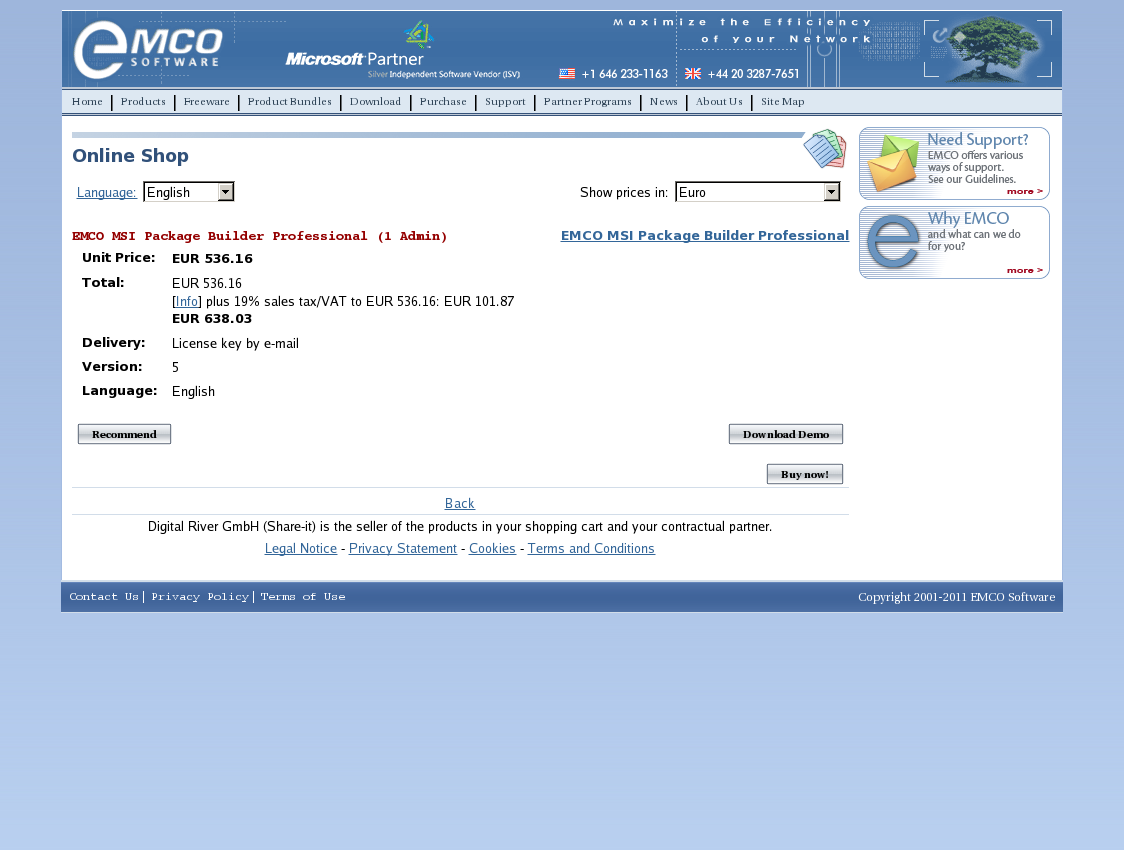 EMCO MSI Package Builder Professional (1 Admin)