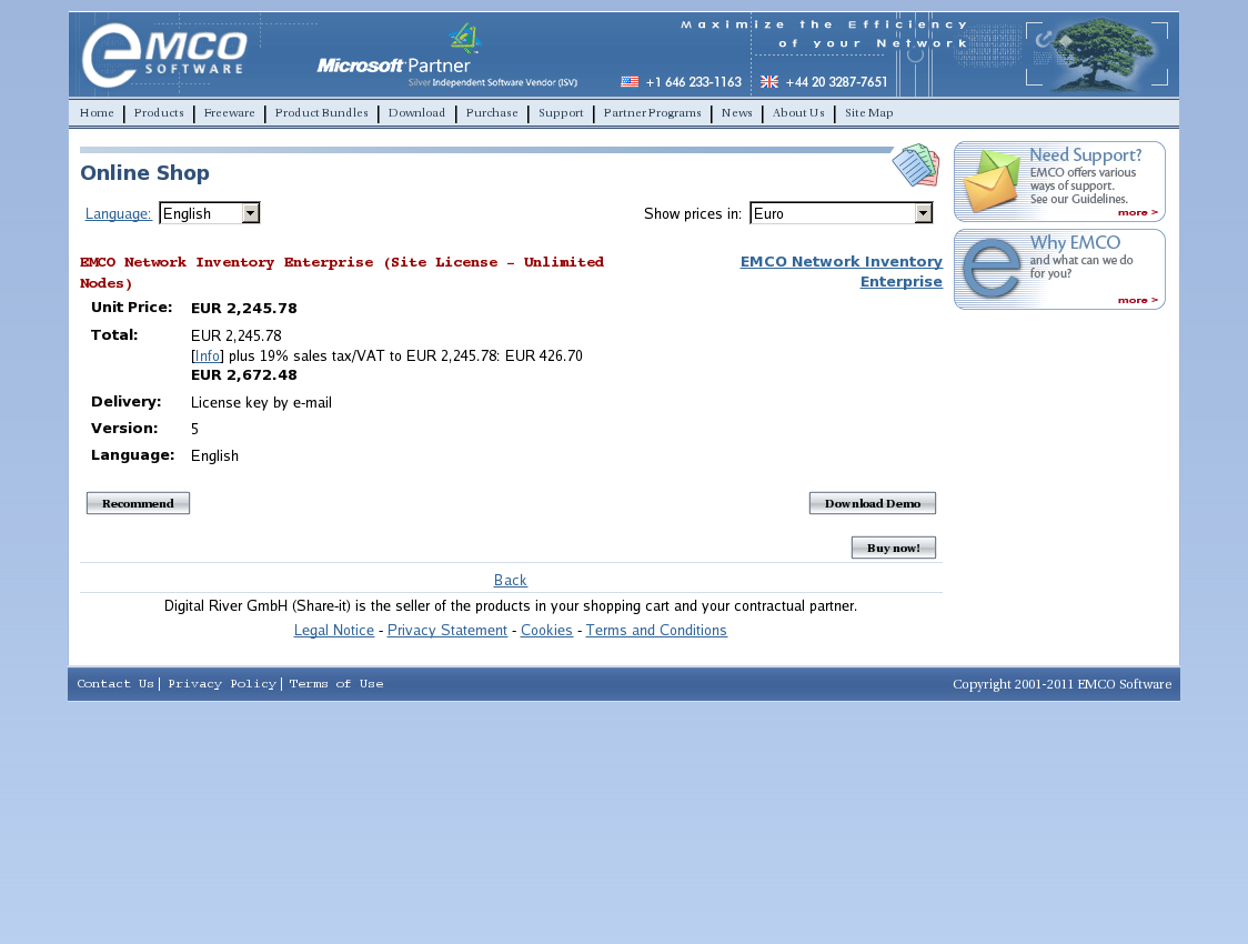 EMCO Network Inventory Enterprise (Site License - Unlimited Nodes)
