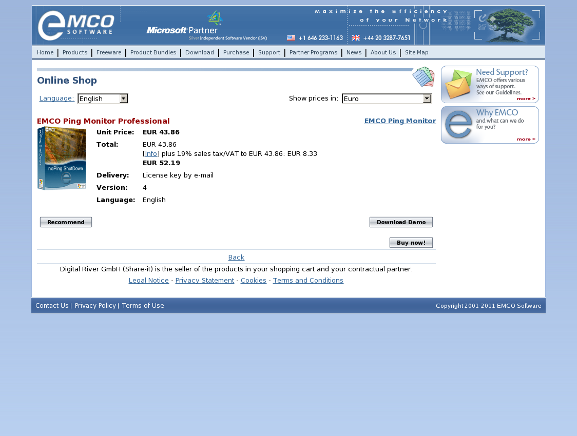 EMCO Ping Monitor Professional