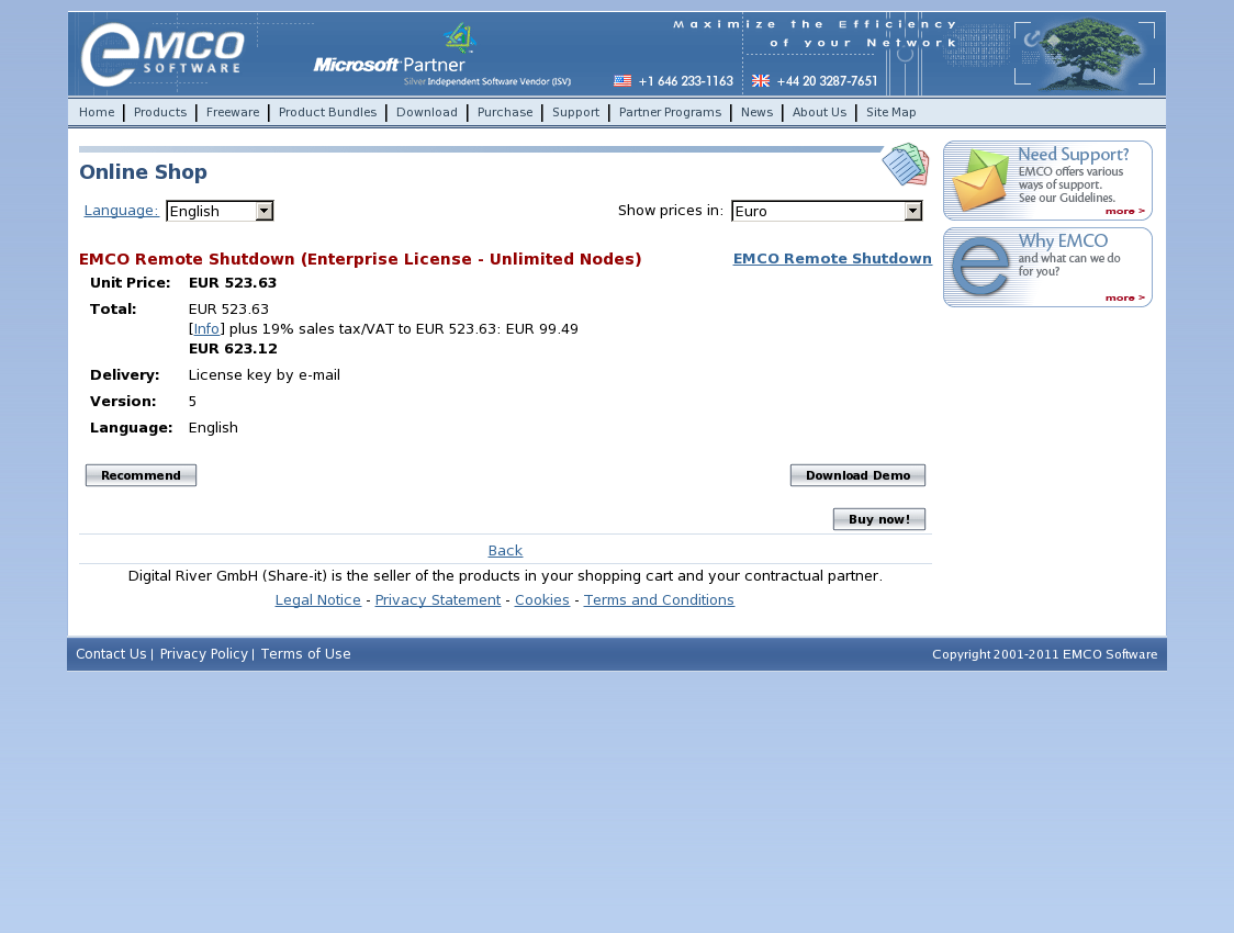 EMCO Remote Shutdown (Enterprise License - Unlimited Nodes)