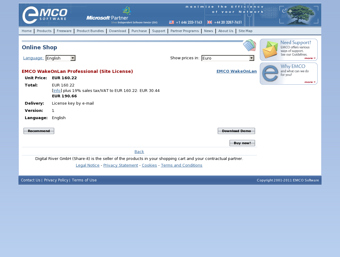 EMCO WakeOnLan Professional (Site License)