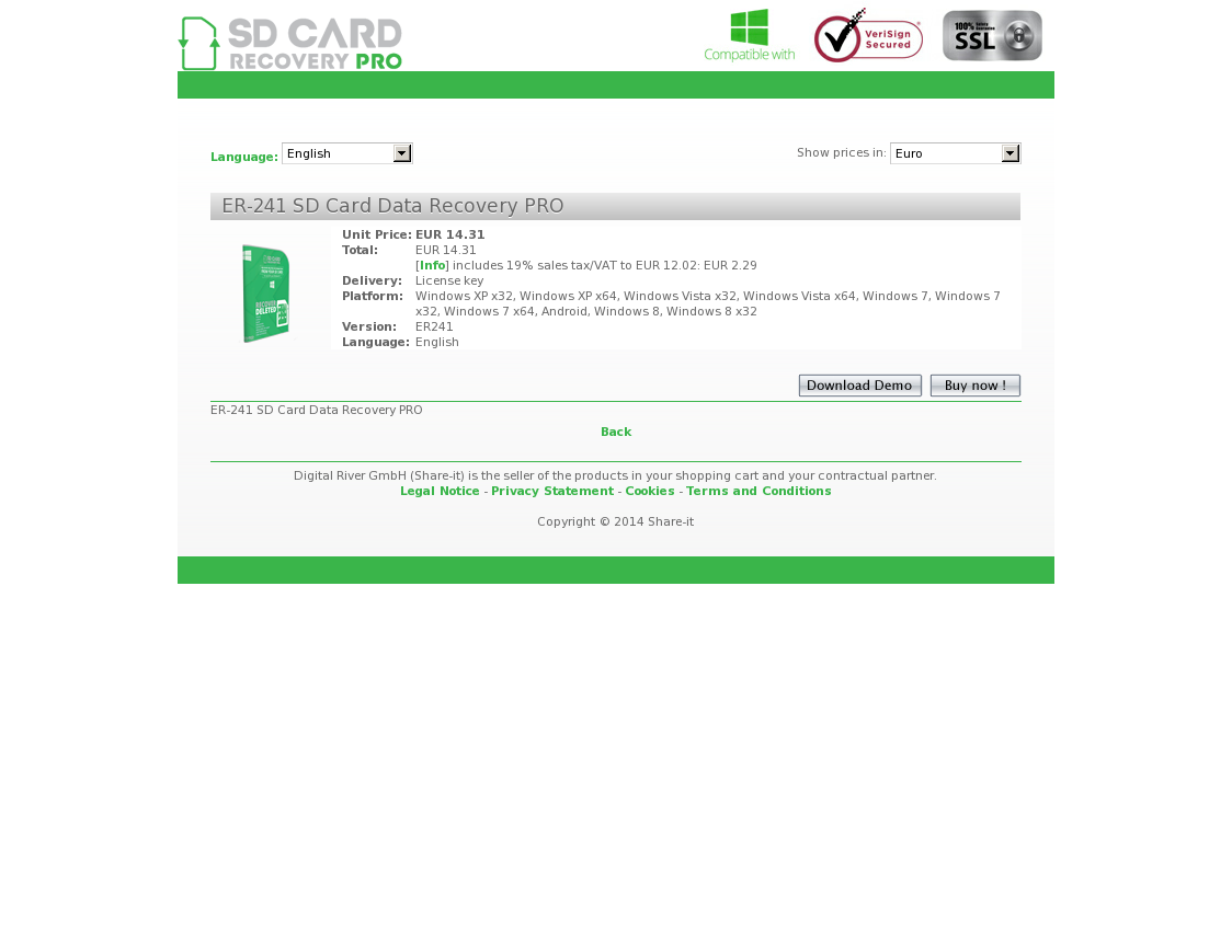 ER-241 SD Card Data Recovery PRO