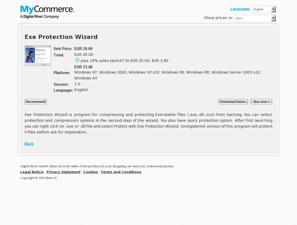 Exe Protection Wizard