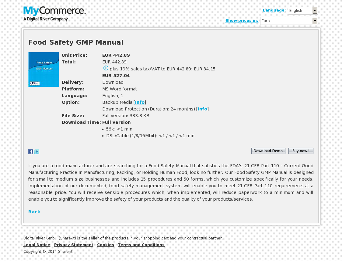 Food Safety GMP Manual