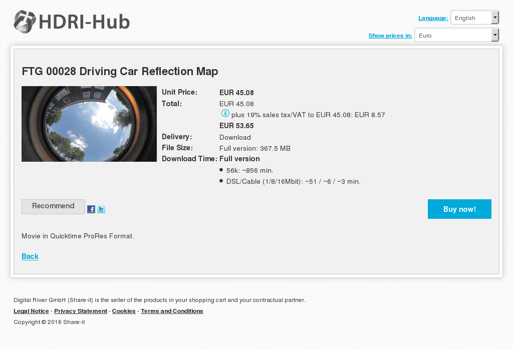 FTG 00028 Driving Car Reflection Map