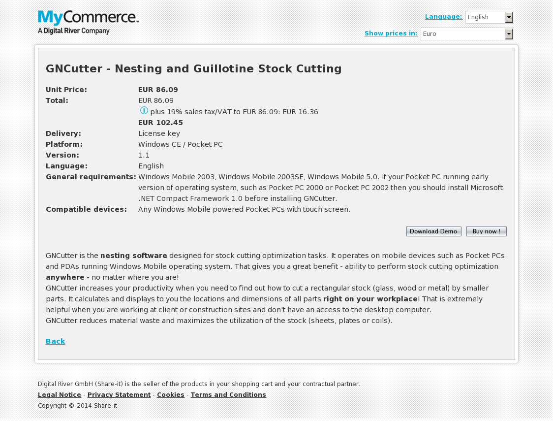 GNCutter - Nesting and Guillotine Stock Cutting
