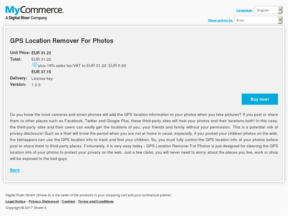 GPS Location Remover For Photos