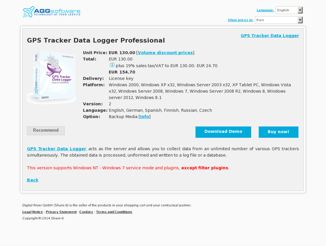 GPS Tracker Data Logger Professional