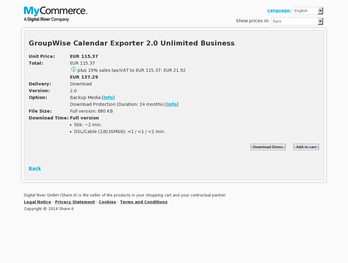GroupWise Calendar Exporter 2.0 Unlimited Business