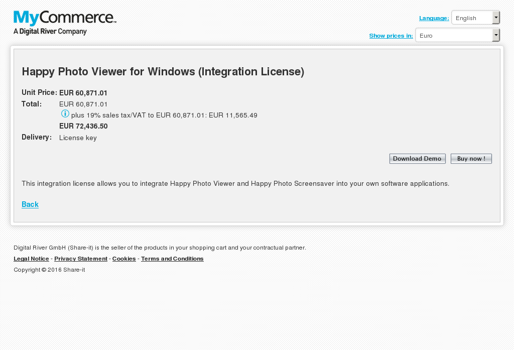 Happy Photo Viewer for Windows (Integration License)