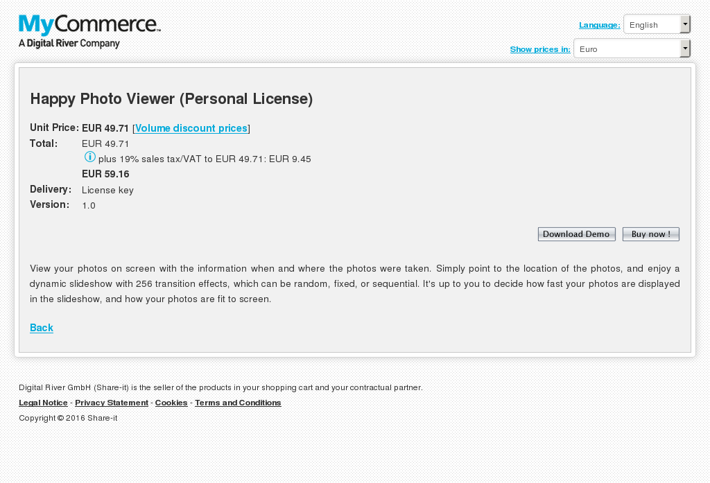Happy Photo Viewer (Personal License)