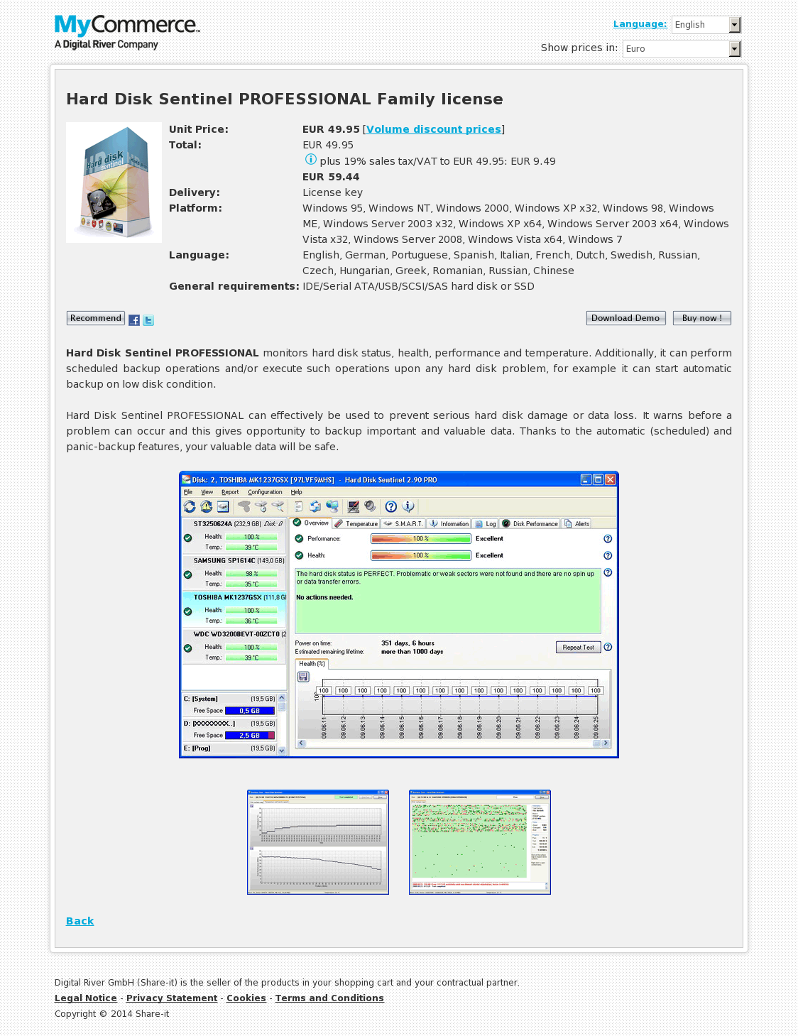 Hard Disk Sentinel PROFESSIONAL Family License