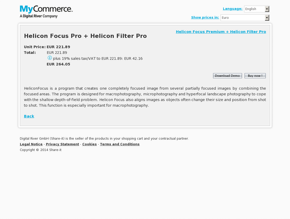 Helicon Focus Pro + Helicon Filter Pro