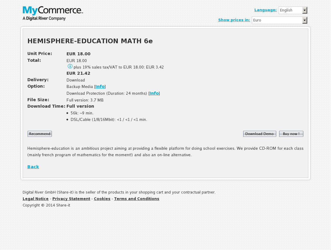 HEMISPHERE-EDUCATION MATH 6e