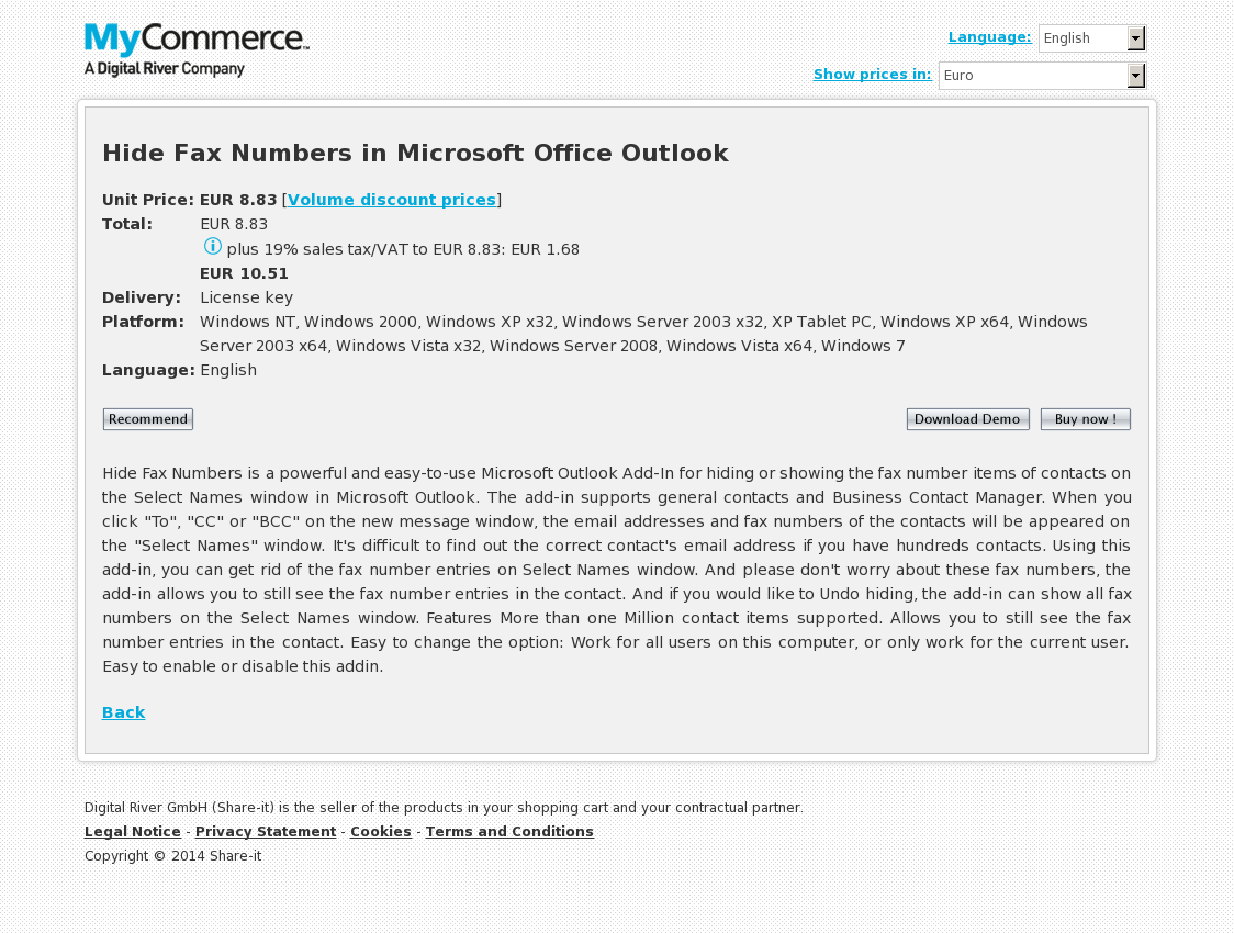 Hide Fax Numbers in Microsoft Office Outlook