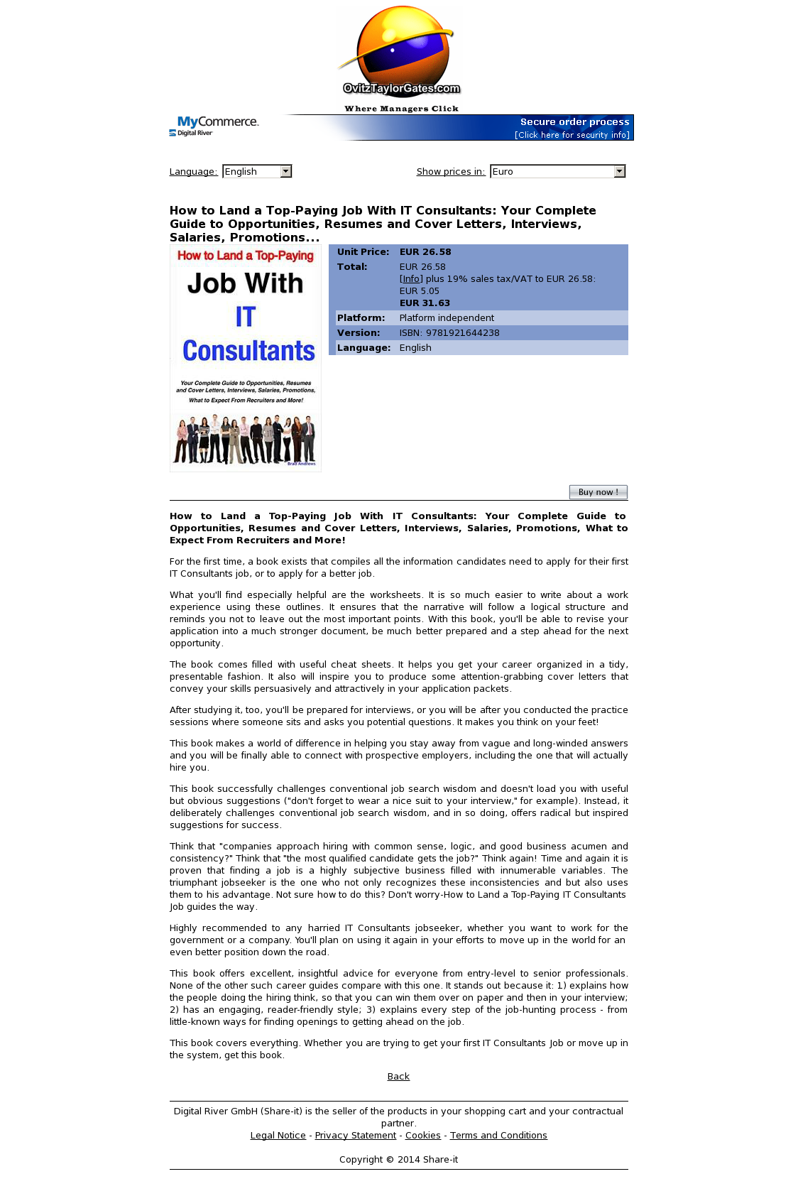 How to Land a Top-Paying Job With IT Consultants: Your Complete Guide to Opportunities, Resumes and Cover Letters, Interviews, Salaries, Promotions...